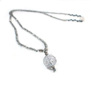 zoom Alexa Long silver necklace 1 - Alexa Long silver necklace
