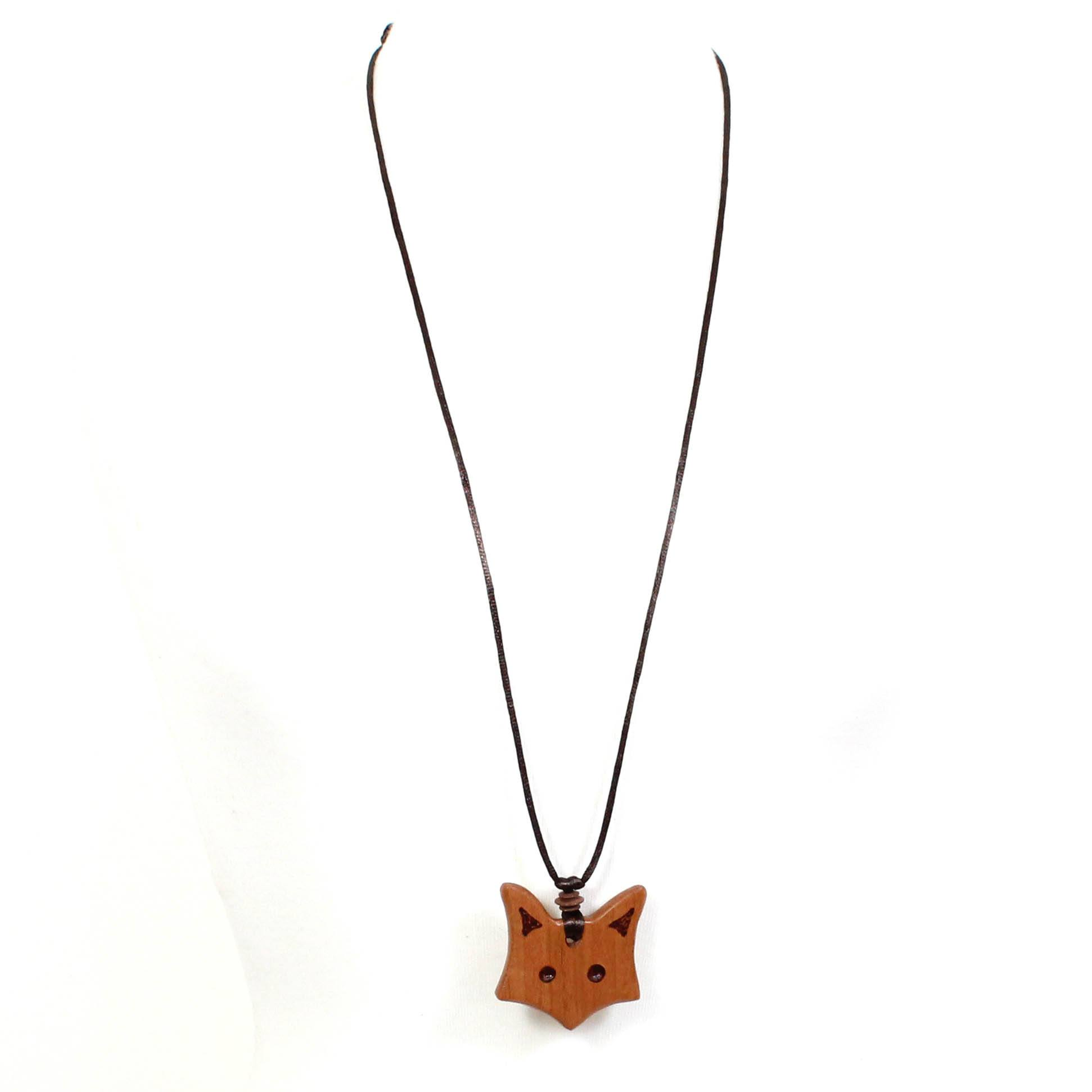 Natural wood Fox & owl Teething necklace gift set ...