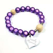 Lovely Mummy bracelet Lilac purple - Lilac Purple Lovely Mummy breastfeeding reminder bracelet