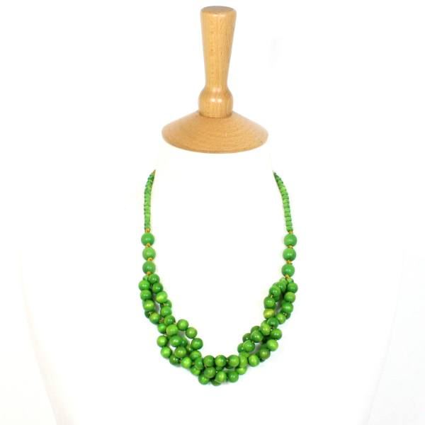 Tani Apple green baby proof nursing teething necklace 002 - Tani Apple green wooden teething nursing fiddle necklace