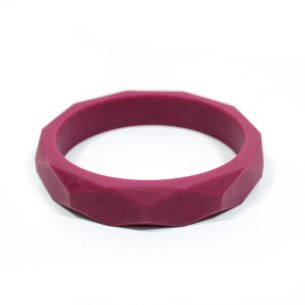 wine bangle - GEOMETRIC silicone teething bangle bracelet Red wine