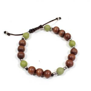 Papa Jewels mens bracelet Willis olive 2 - Willis Olive green Mens silicone baby proof bracelet