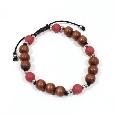 Papa Jewels mens bracelet Willis wine 1 - Willis Marsala red Mens silicone baby proof bracelet