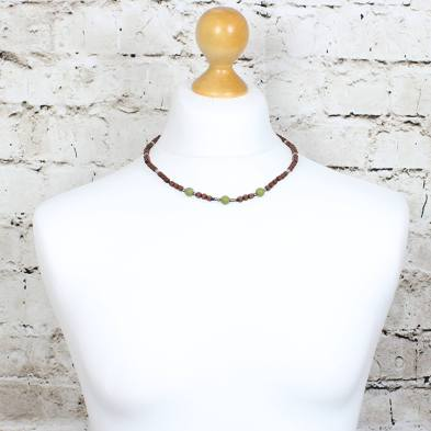 Papa Jewels mens necklace Willis olive 3 - Willis Olive green Mens silicone baby proof necklace