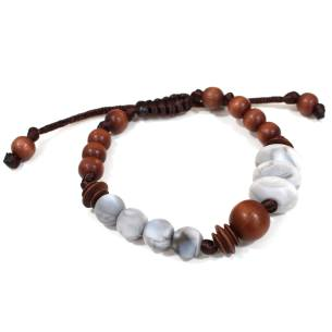 Anthropologist marble wood bracelet 2 1 - Anthropologist silicone wood teething baby proof bracelet marble