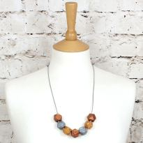 GEO BEADS Metallics b 1 - Metallics gold silver copper GEO BEADS silicone teething necklace