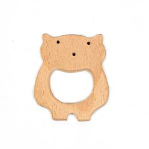 BEECHWOOD BEAR TEETHER SIMPLE - Bertie Bear beechwood natural wood teething toy