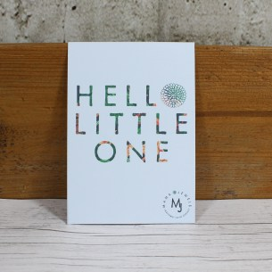 HELLO LITTLE ONE NEW CARD 2 - FREE Gift message card 'Hello Little One'