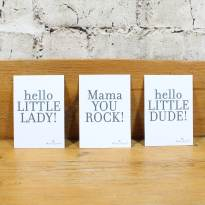 all three cards - FREE Gift message card 'Hello Little Dude'