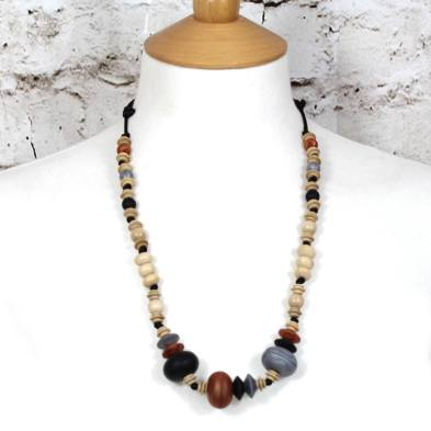Anthropologist Bohemian Jet Copper 005 - Anthropologist Jet copper wood silicone teething necklace gift set