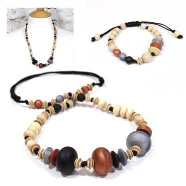 gift set jet copper teething necklace 1 - Anthropologist Jet copper wood silicone teething necklace gift set