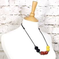 beech mustard 2018 1 - Earth Mustard GEO BEADS silicone teething necklace