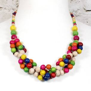 tani rainbow teething necklace 3 - Tani Rainbow wooden teething nursing fiddle necklace