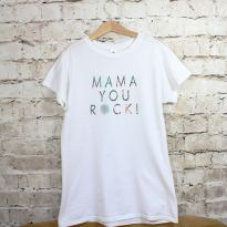 tshirt 1 - MAMA YOU ROCK! ladies mother t shirt tee white foliage