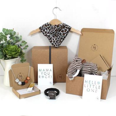JUNGLE HAMPER 1 1 - Funky leopard print Mama and baby gift hamper set for baby girl or boy