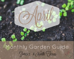 Monthly Garden Guide April Header
