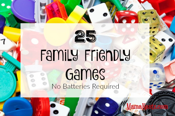 25 Family Friendly Games {No Batteries Required} Just in time for Christmas @MamaKautz