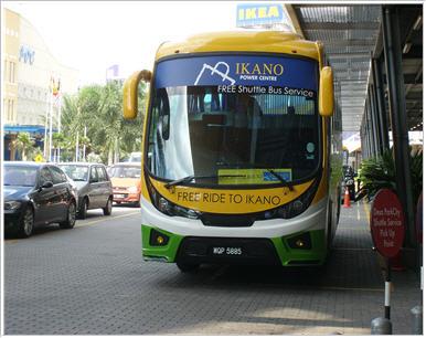 shuttle bus ke Ikano Power Centre dan Ikea