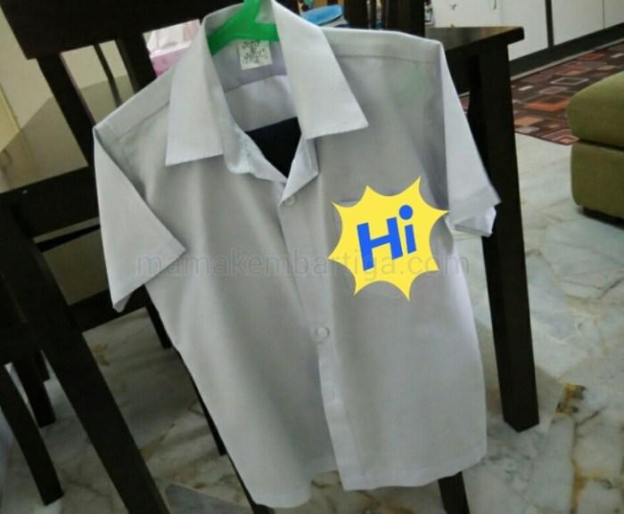 cara basuh baju putih