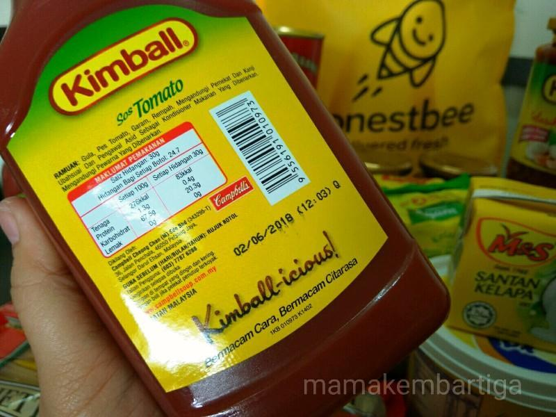 beli barang dapur online di HonestBee Malaysia