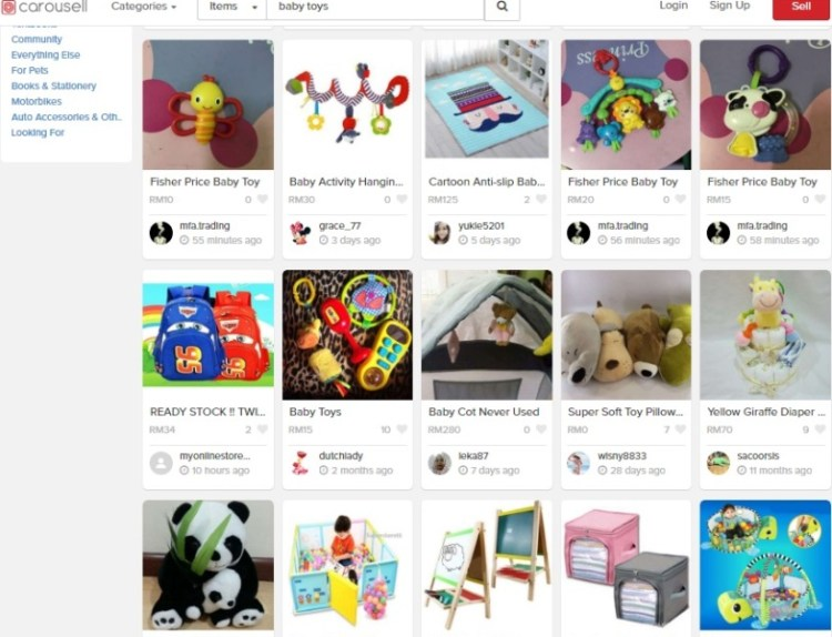 Carousell baby toys