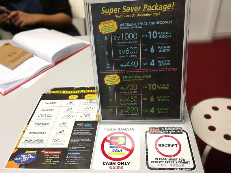 urutan sukan Pro MMR Sport Massage Kuala Lumpur