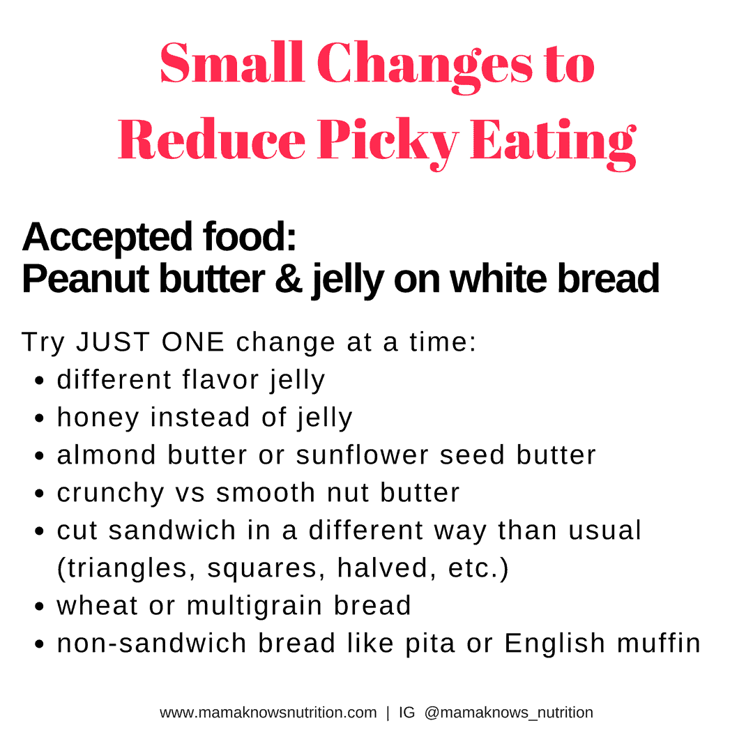 Trick to Reduce Picky Eating | mamaknowsnutrition.com