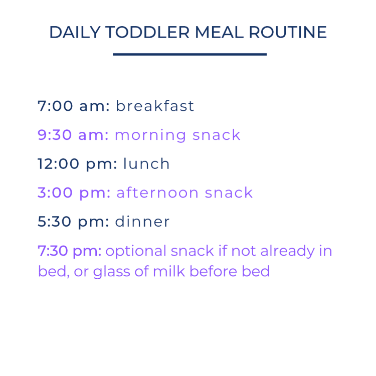 Toddler Meal Schedule | mamaknowsnutrition.com