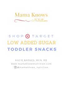 Toddler Snack Guide