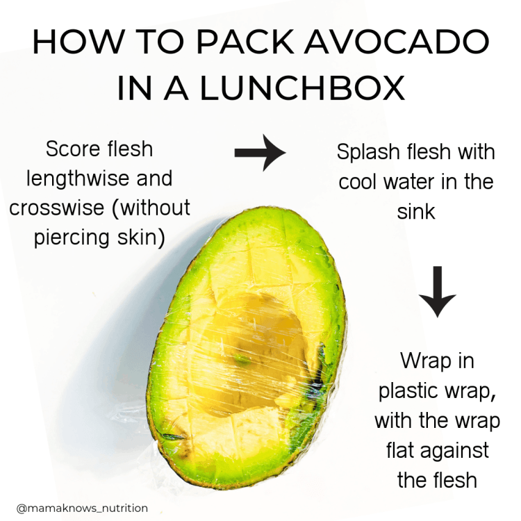 How to pack avocado in a lunchbox | mamaknowsnutrition.com