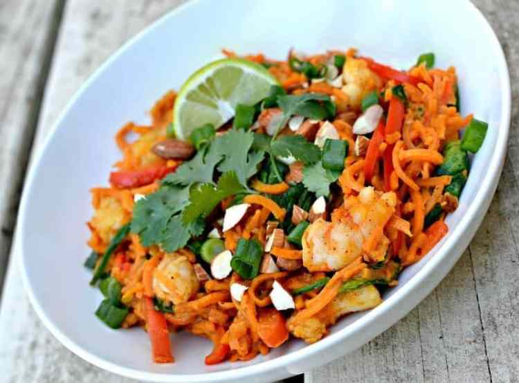 Sweet Potato Noodle Bowl by Peanut Butter Runner