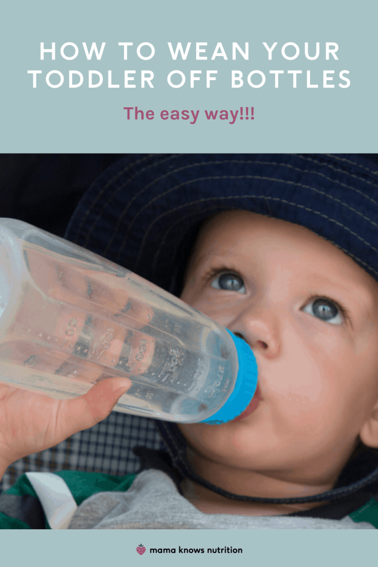 how to wean your toddler off bottles