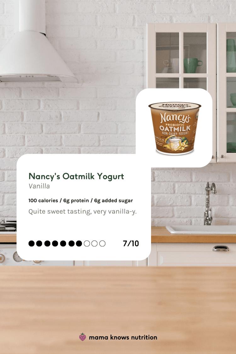 nancy's oatmilk non-dairy yogurt review vanilla non dairy yogurt