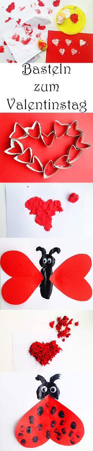 Basteln und Malen mit Kindern zum Valentinstag Herz basteln