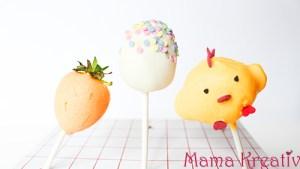Cake Pops zu Ostern machen: Ostereier, Häschen, Küken und Karotte mit Grundrezept und Video