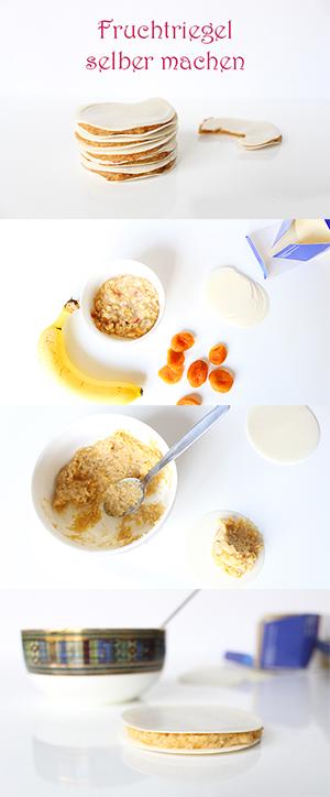 Fruchtriegel Müsliriegel für Kinder und Babys selber machen rezept