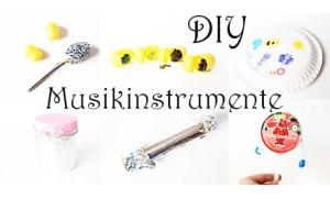 Musikinstrumente mit Kindern selber basteln +Video