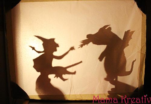 Schattentheater selber machen bauen für hund und katz ist auch noch platz theater shadow theater puppet diy room on the broom julia donaldson
