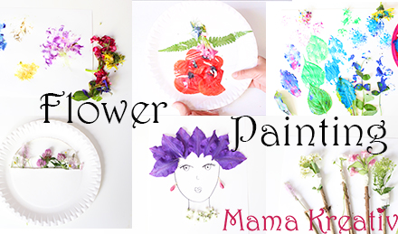 malen mit blumen ideen malen mit kindern basteln kreativ summer activities for kids flower pounding painting