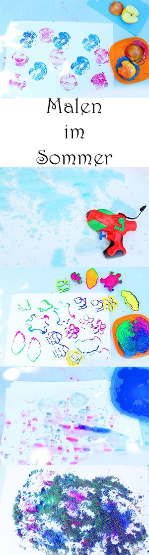 Malen mit Kindern im Sommer - 6 Ideen zum Malen im Garten und Kindergarten
