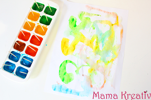 Ice Summer Activities | Painting with Ice Cubes | Malen im sommer mit eis für kinder kleinkinder kindergarten