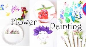 Malen mit Blumen +Video