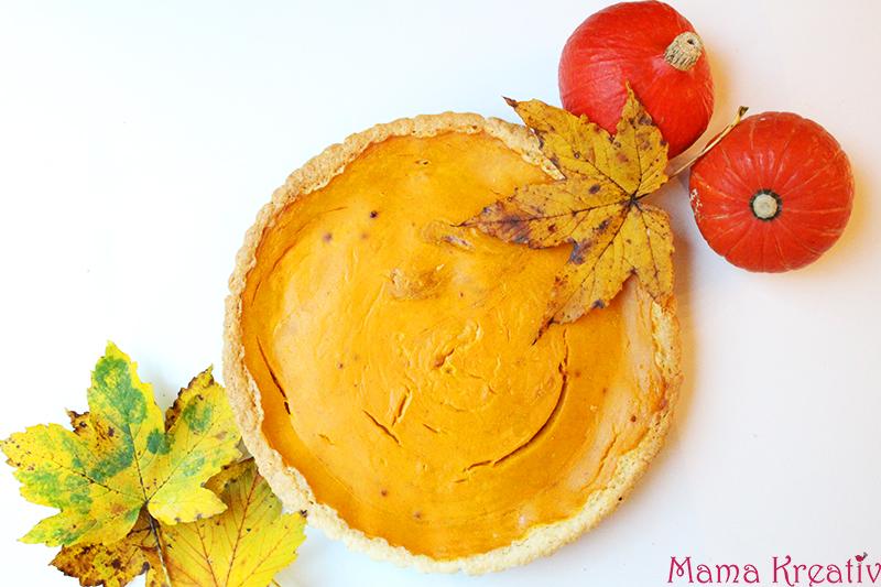Pumpkin Pie mit weißer Schokolade Kürbiskuchen