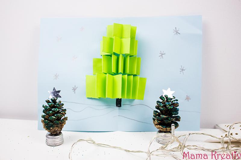weihnachtskarten basteln mit kindern 5 schnelle ideen video mama kreativ. Black Bedroom Furniture Sets. Home Design Ideas