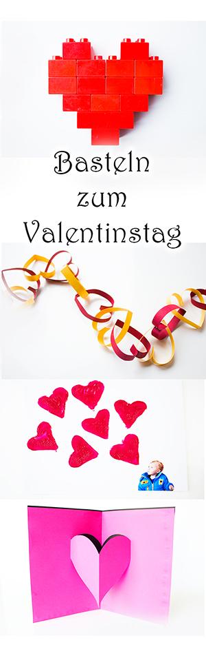 Basteln mit Kindern zum Valentinstag Pin