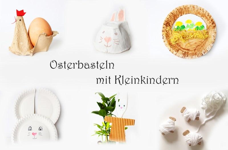 Osterbasteln mit Kleinkindern aus Upcycling-Materialien Eierkartons, Pappteller, Pappe