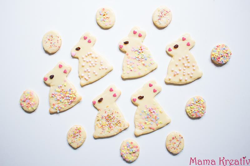 Süße Osterhasen Kekse Plätzchen backen rezept schnell einfach (10)
