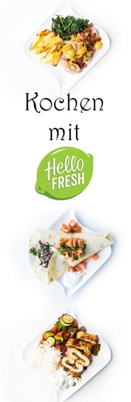 Kochen mit Hellofresh - 3 leckere Rezepte