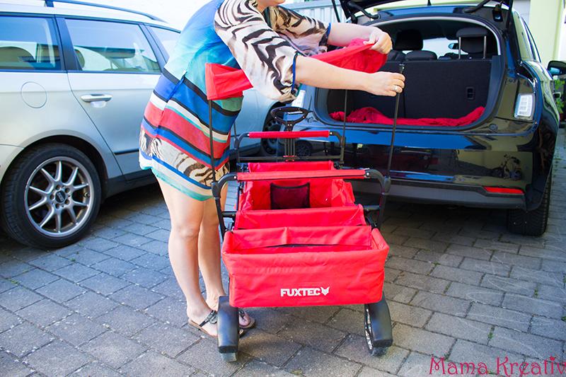 FUXTEC Bollerwagen mit Sonnendach Test Erfahrung Erfahrungsbericht (27)