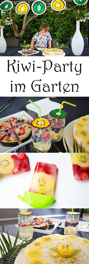 Kiwi Party im Garten - Sommerparty Ideen, Rezepten, Deko